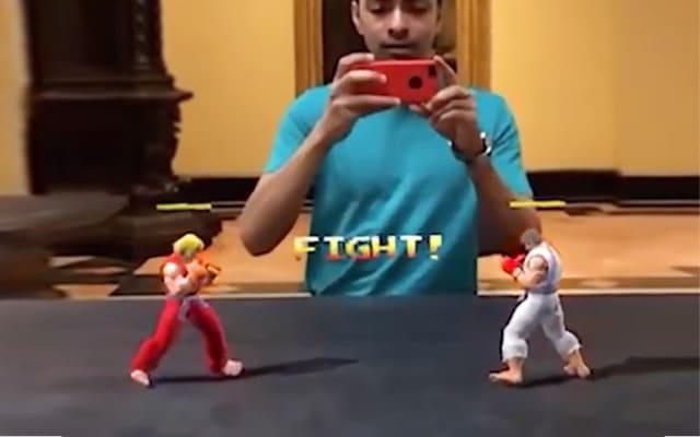 Street Fighter en réalité augmentée — ARKit